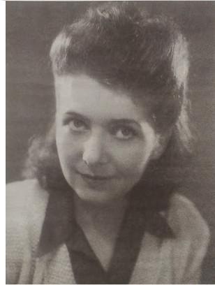 Zdjęcie z 1946 roku, zrobione w Wk. Brytanii, gdzie Elżbieta Prądzyńska-Zboińska dotarła po wyzwoleniu z niemieckiego obozu jenieckiego w Oberlangen.